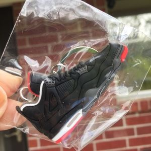 Other - NWT New Sneakers 👟 men's shoe key chain black whi